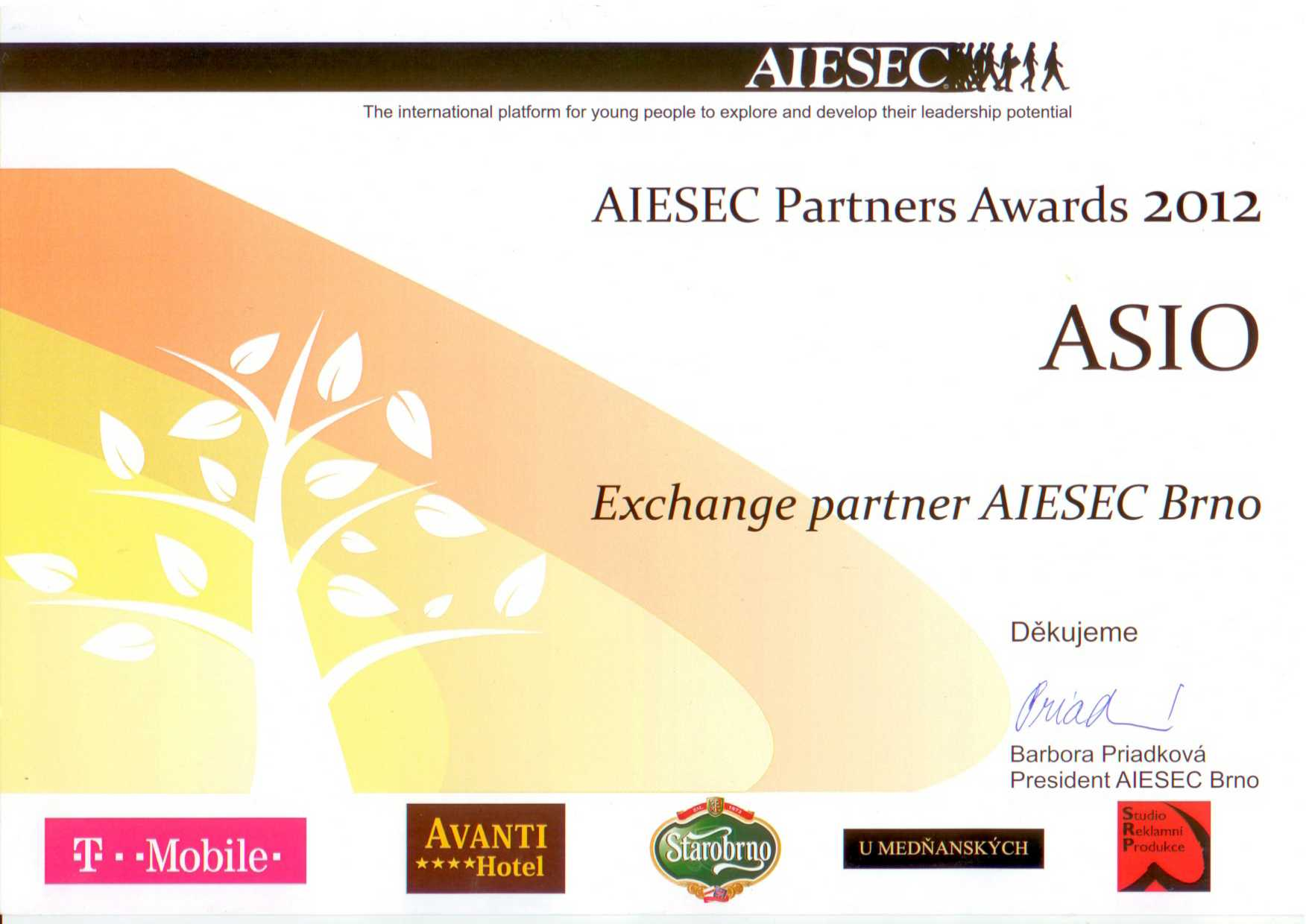AIESEC PARTNERS AWARDS 2012
