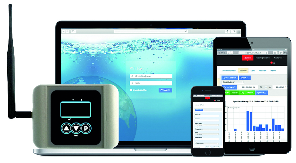 Intelligent water meter and leak detection system AS-WaterOwl