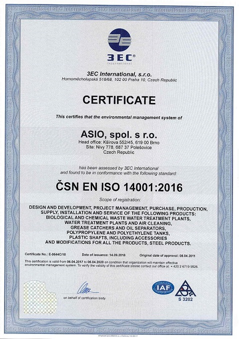 ASIO ISO 14001:2016
