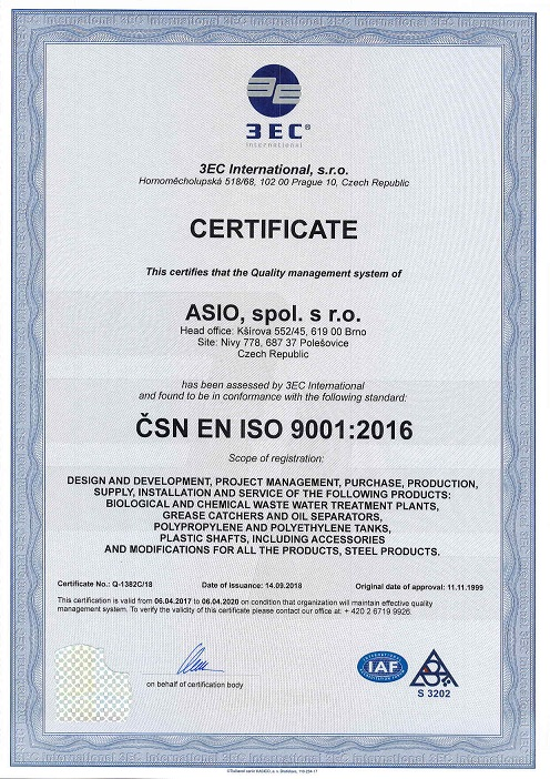 ASIO ISO 9001:2016