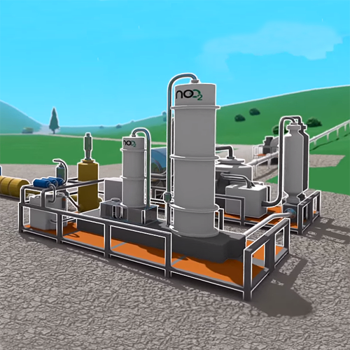 Photo: Landfill gas treatment